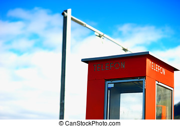 Norway telephone booth backdrop hd