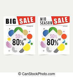 poster for sale square design illustration in colorful