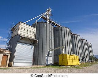 Modern grain silos