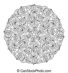 hand drawn mandala - Vector illustration of abstract hand...