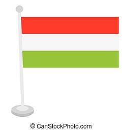 Isolated Hungarian flag on a white background, Vector...