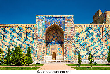 Ulugh Beg Madrasah on Registan square - Samarkand, Uzbekistan