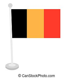 Isolated Belgian flag on a white background, Vector...