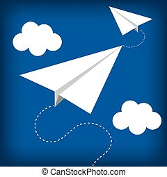 paper plane flying toy