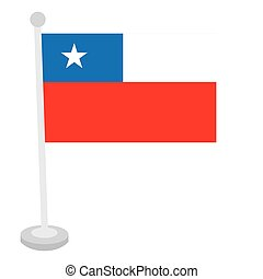 Isolated Chilean flag on a white background, Vector...