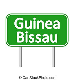 Guinea-Bissau road sign. - Guinea-Bissau road sign isolated...