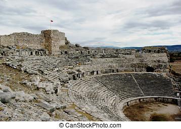 Amphitheater of mileto, turkey