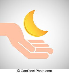 weather concept forecast half moon icon design vector...