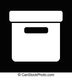 Office File Box icon illustration design