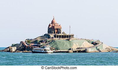 Swami Vivekananda Rock Memorial in Vavathurai, Kanyakumari,...