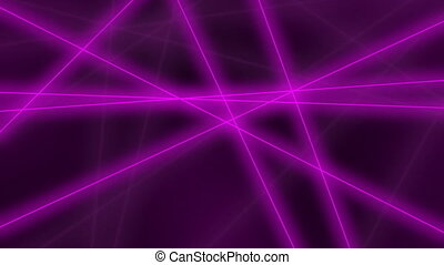 Hi-tech motion background. Abstract glowing purple lines crossings. 8K seamless loop clip