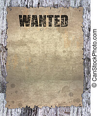 Wanted poster - antique page - wanted - vintage wanted...