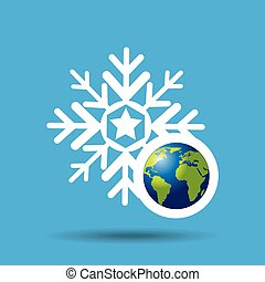 globe earth weather meteorology snow vector illustration eps...