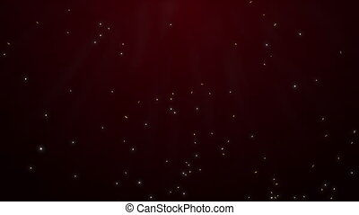 Dynamic red motion background. Abstract glowing stars and...