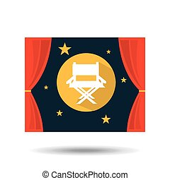 concept cinema theater chair director graphic design