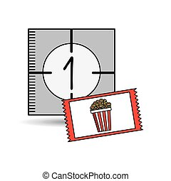 concept counting pop corn design vector illustration eps 10