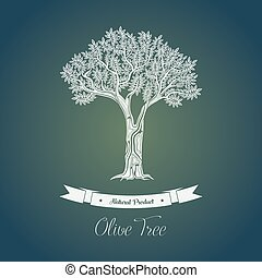 Ancient greek olive oil tree in grove