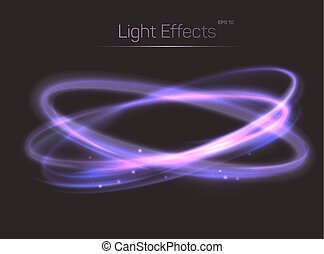 Circle or ovals light effects background. Luminosity and...