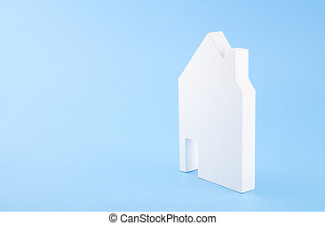 House shape on blue background