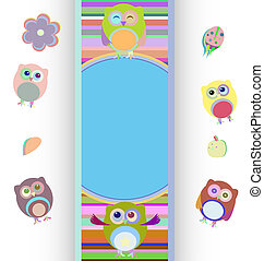happy birthday party owls set