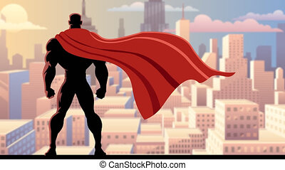 Superhero Watch 2 - Looping animation of superhero watching...