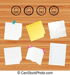 Document signs. File extensions symbols. - Business paper...