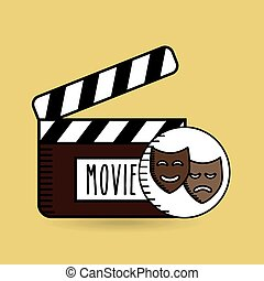 clapper movie hand icon design