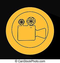 silhouette head. concept cinema camera