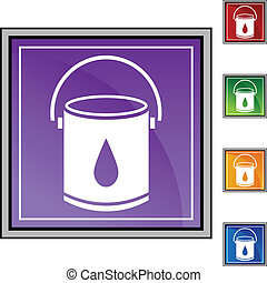 Paint Bucket web button isolated on a background.