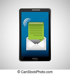 mobile cellphone email message icon