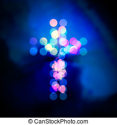 Holy cross bokeh light - Holy cross, bokeh light circles...