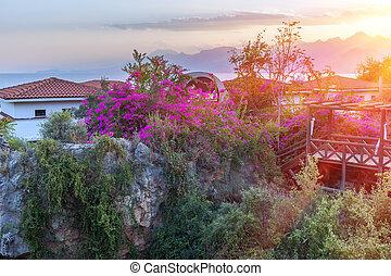Antalya Turkey sunset - travel background - Antalya Turkey...