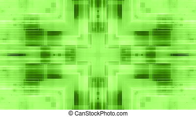Green VJ geometric loop - Animated green VJ geometric loop