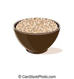 bowl full of brown lentils - Bowl full of brown lentils....