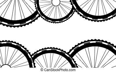 Vélo, modèle, modèle, Vélo, fond, roues, roues