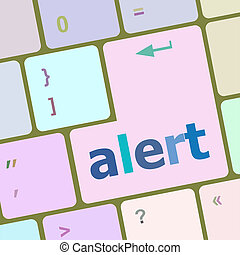alert button on the keyboard key