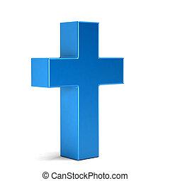 Christian Cross. 3D Rendering illustration