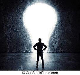 Lightbulb door