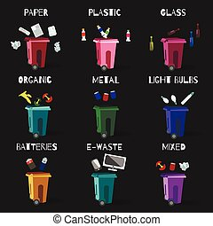 garbage recycle categories