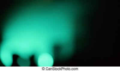 Shimmering Blurred Lights of the Stage in the Night Club -...