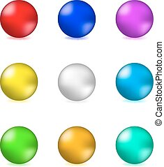 Shiny glossy colorful spheres