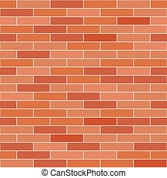 Brick wall background. Vector seamless pattern.