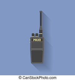 Icon of Police radio. Flat style