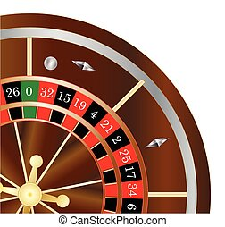 Roulette Wheel Spin - A typical roulette wheel with the...