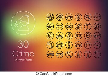 Set of crime icons - crime modern icons for mobile interface...