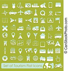 Set of tourism icons