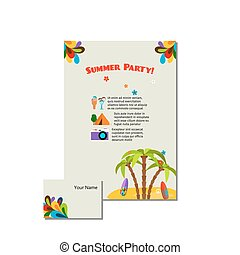 Summer party advertising invites