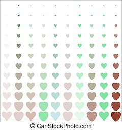 hearts pattern on white background - Simple hearts pattern....