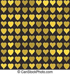 Golden hearts pattern - Simple golden hearts pattern....