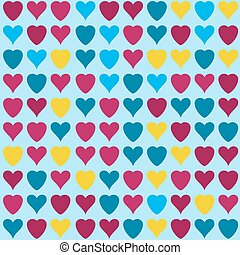hearts pattern on blue background - Simple hearts pattern....